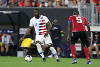 CLEVELAND, OHIO - JUNE 22: Jozy Altidore #17 during a 2019 CONCACAF Gold Cup group D match between the United States and Trinidad & Tobago at FirstEnergy Stadium on June 22, 2019 in Cleveland, Ohio.
