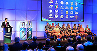 London, England. General view of the presentation during the UK Heineken Cup and Amlin Challenge Cup season launch at SKY Studios on October 1, 2012 in London, England.
