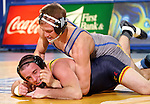 BROOKINGS, SD - NOVEMBER 9:  Alex Kocer from South Dakota State controls Shane Fenngham from Drexel in their 149 pound match Saturday at Frost Arena. (Photo by Dave Eggen/Inertia)