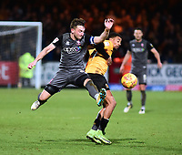 Lincoln City's Lee Frecklington battles with  Cambridge United's Reggie Lambe<br /> <br /> Photographer Andrew Vaughan/CameraSport<br /> <br /> The EFL Sky Bet League Two - Cambridge United v Lincoln City - Saturday 29th December 2018  - Abbey Stadium - Cambridge<br /> <br /> World Copyright © 2018 CameraSport. All rights reserved. 43 Linden Ave. Countesthorpe. Leicester. England. LE8 5PG - Tel: +44 (0) 116 277 4147 - admin@camerasport.com - www.camerasport.com