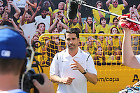 Santa Clara, CA - Friday June 03, 2016: Juan Pablo Angel at the Sprint booth prior to a Copa America Centenario Group A match between United States (USA) and Colombia (COL) at Levi's Stadium.