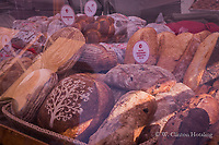 Various decorated loaves adorn Stella's Bakery's street-side display at the Dane County Farmers' Market.