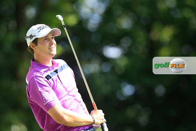 Peter UIHLEIN (USA) during round 1 of the 2015 BMW PGA Championship over the West Course at Wentworth, Virgina Water, London. 21/05/2015<br /> Picture Fran Caffrey, www.golffile.ie: