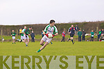 Seamus O'Neill of Na Gaeil in action in the Muster Junior B Football Final last Sunday afternoon in Knockaderry.