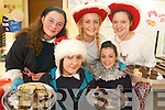 GOODIES: Serving up the goodies at the Presentation Secondary School charity fundraiser on Thursday last were, front l-r: Sarah Leen, Tara O'Sullivan. Back, l-r: Rebecca Cains, Claire Stack, Hazel Prendeville.   Copyright Kerry's Eye 2008