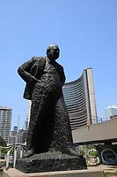 Toronto (ON) CANADA - July 2012 -   Winston Churchill statue near Toronto City Hall