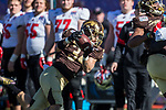 Western Michigan Broncos linebacker Alex Grace (34) in action during the Servpro First Responder Bowl game between Western Michigan Broncos and the Western Kentucky Hilltoppers at the gerald Ford Stadiuml Stadium in Dallas, Texas.