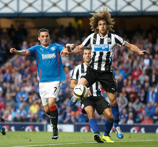 Fabricio Coloccini with Nicky Clark