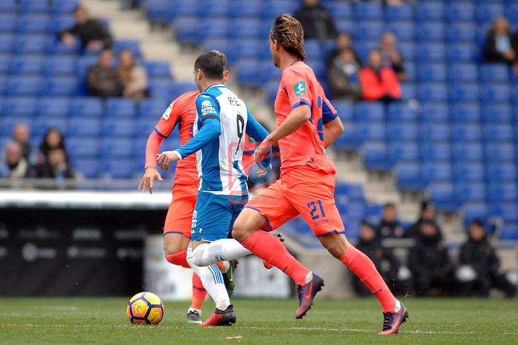 League Santander 2016/2017. Game: 19.<br /> RCD Espanyol vs Granada CF: 3-1.<br /> Reyes vs Krhin.