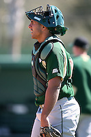 February 20, 2009:  Catcher Ryan Garcia (35) of the University of South Florida during the Big East-Big Ten Challenge at Jack Russell Stadium in Clearwater, FL.  Photo by:  Mike Janes/Four Seam Images