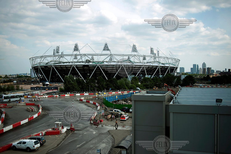 The main Olympic Stadium, within the Olympic Park, Stratford, east London.