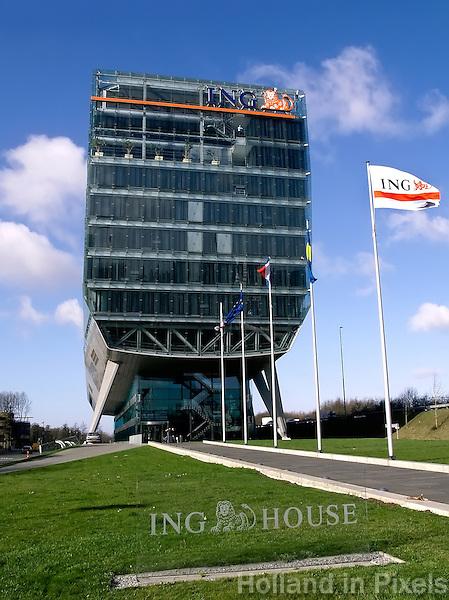 ING  kantoor bij de Zuidas  van Amsterdam