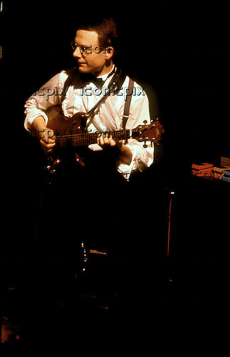 King Crimson - guitarist Robert Fripp performing live at the Hammersmith Palais in London UK - 12 Sep 1982.  Photo credit: George Chin/IconicPix