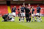 Regan Slater of Sheffield Utd is sent off during the U23 Professional Development League Two match at Bramall Lane Stadium, Sheffield. Picture date 18th August 2017. Picture credit should read: John Taff/Sportimage