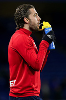 Jay Rodriguez of West Brom enjoys a drink ahead of kick-off during Chelsea vs West Bromwich Albion, Premier League Football at Stamford Bridge on 12th February 2018