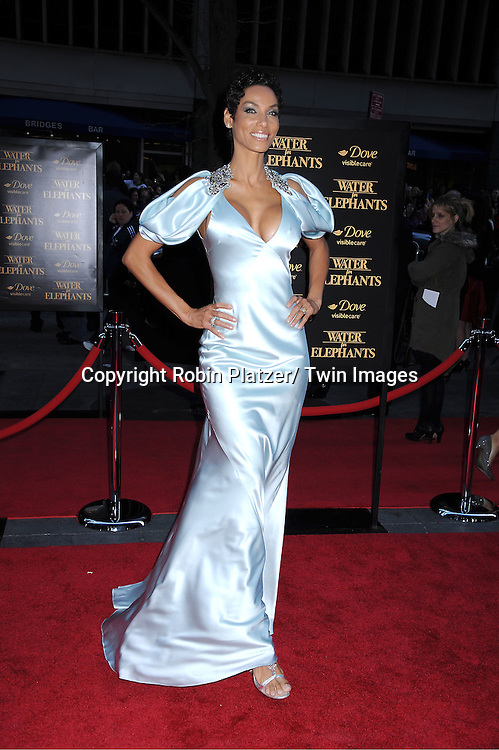 """Nicole Murphy attending The Premiere of """"Water For Elephants"""" on    April 17, 2011 at The Ziegfeld Theatre in New York City. The stars of the movie are Reese Witherspoon, Robert Pattinson, Christoph Waltz and Hall Holbrook."""