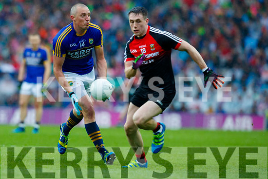 Kieran Donaghy Kerry in action against /m18/ Mayo in the All Ireland Semi Final in Croke Park on Sunday.