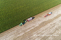 63801-10705 Farmer cutting corn for silage-aerial Marion Co. IL