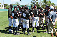Edgewood Eagles  during the second game of a doubleheader against the Plymouth State Panthers on March 17, 2015 at Terry Park in Fort Myers, Florida.  Edgewood defeated Plymouth State 9-2.  (Mike Janes/Four Seam Images)