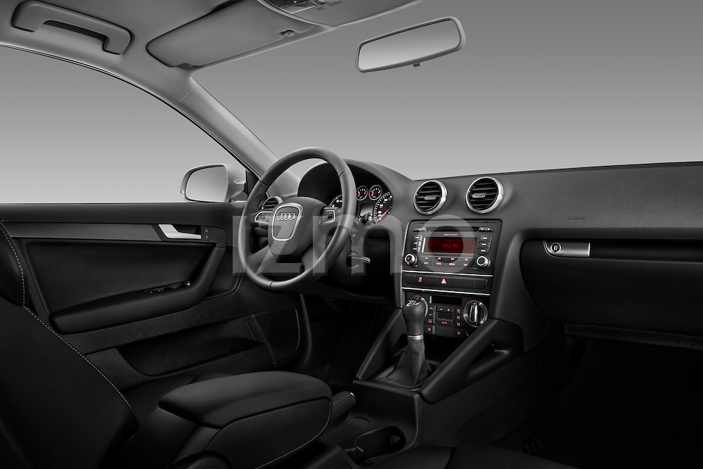 Straight dashboard view of a 2003 - 2012 Audi A3 Premium Sportback Hatchback.