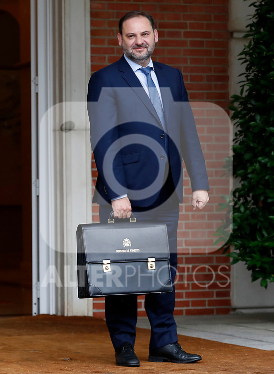 Jose Luis Abalos, Minister of Fomento, arrives at the first Council of Ministers of the new Government of Spain, chaired by Pedro Sanchez. June 8,2018. (ALTERPHOTOS/Acero)