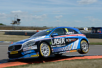 #16 Aiden Moffat Laser Tools Racing Mercedes-Benz A-Class during BTCC Practice  as part of the Dunlop MSA British Touring Car Championship - Rockingham 2018 at Rockingham, Corby, Northamptonshire, United Kingdom. August 11 2018. World Copyright Peter Taylor/PSP. Copy of publication required for printed pictures.
