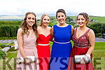 Erika O'Sullivan, Amy Cullon, Rebecca Devane and and Emma Sheehy attending the Presentation Tralee Debs in the Ballyroe Hotel on Tuesday.