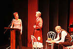 """Denise Pence and Tom Galantich and Alan Altschuler at """"Union Women at Work: Inspiration In Motion"""" on March 5, 2012 at Theatre at Saint Peter's Church - Home of The York Theatre, New York City, New York which was """"sponsored by Actors' Equity Associations Eastern EEO Committee.  The event was an Equity event in celebration of Womens History Month.  (Photo by Sue Coflin/Max Photos) (Photo by Sue Coflin/Max Photos)"""