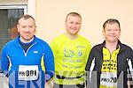 Michael O'Callaghan Caragh Lake, Damian Quigg Killorglin and Noel Doyle Caragh Lake keeping fit at the Puck Warriors Duathlon in Killorglin on Saturday..
