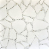 Path. a hand-cut stone mosaic, shown in honed Thassos and polished Calacatta Tia.