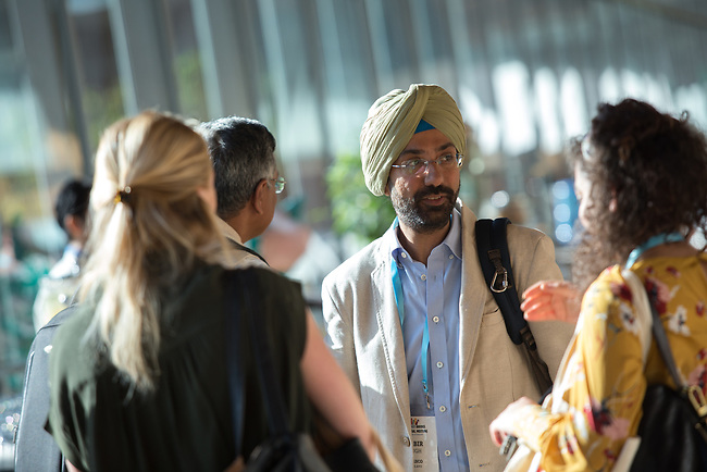 25 June, 2018, Kuala Lumpur, Malaysia : Kabir Singh of UNESCO speaks with participants at the Opening Plenary session at the Girls Not Brides Global Meeting 2018 at the Kuala Lumpur Convention Centre. Picture by Graham Crouch/Girls Not Brides