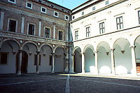UrbinO:  Ducal Palace--The Court of Honor. Architect Luciano Laurana.  Photo '83.