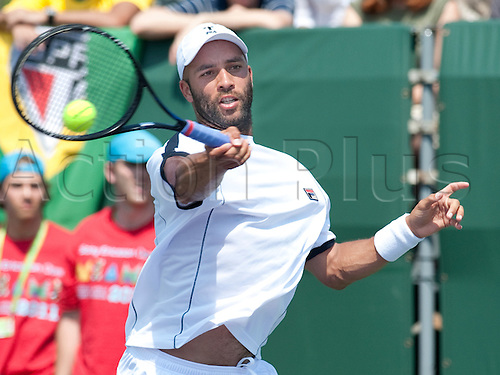 Sony Ericsson 2011..James Blake in action, defeating Thomaz Bellucci of Brazil, in the second round of the Sony Ericsson Open, played at Crandon Park, Miami, Florida....