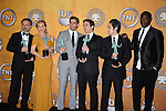 LOS ANGELES, CA. - January 23: Christoph Waltz, Diane Kruger, Eli Roth, B.J. Novak, Omar Doom and Jacky Ido pose in the press room at the 16th Annual Screen Actors Guild Awards held at The Shrine Auditorium on January 23, 2010 in Los Angeles, California.