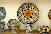 Genuine Talavera pottery for sale in Cholula, Puebla, Mexico. Cholula is a UNESCO World Heritage Site.