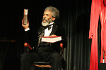 ANDRE DE SHIELDS as Frederick Douglass on 2/9/09 in NYC. Photo by Lia Chang