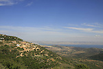 Israel, Upper Galilee, a view pf the Moshav Amirim and the Sea of Gallilee from Amirey Hagalil Spa Hotel
