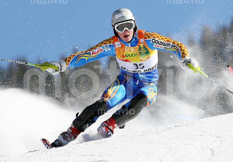 Ski Alpin; Saison 2006/2007  Slalom Herren Jens Byggmark (SWE) belegt Platz 5.