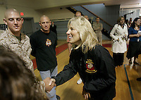 Deploying troops in the Second Combat Engineer Battalion were surprised with an executive send-off this week when the second lady of the United States, visited Camp Lejeune.<br /> <br /> Dr. Jill Biden, a ìBlue Star Momî military mother herself with a son, Beau, who recently returned from a year-long deployment in Iraq, mingled with about 150 troops and their families on Wednesday, Oct. 13, 2009. The troops were preparing for a deployment to Afghanistanís Helmand province. Biden has made a priority of reaching out to service members and her families in a public capacity.