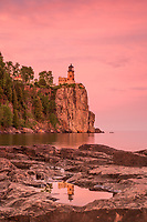 &quot;Sunset Reflection at Split Rock Lighthouse&quot;<br />