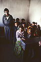 Iran 1982.A classroom with boys and girls near Oushnavie