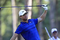 Lucas Bjerregaard (DEN) tees off the 10th tee during Sunday's Final Round of the 2018 Turkish Airlines Open hosted by Regnum Carya Golf &amp; Spa Resort, Antalya, Turkey. 4th November 2018.<br /> Picture: Eoin Clarke | Golffile<br /> <br /> <br /> All photos usage must carry mandatory copyright credit (&copy; Golffile | Eoin Clarke)