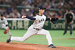 Ryo Akiyoshi (JPN), <br /> MARCH 15, 2017 - WBC : <br /> 2017 World Baseball Classic <br /> Second Round Pool E Game <br /> between Japan - Israel <br /> at Tokyo Dome in Tokyo, Japan. <br /> (Photo by YUTAKA/AFLO SPORT)