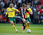 David Brooks of Sheffield Utd gets free of Tom Trybull of Norwich City during the Championship match at Bramall Lane Stadium, Sheffield. Picture date 16th September 2017. Picture credit should read: Simon Bellis/Sportimage