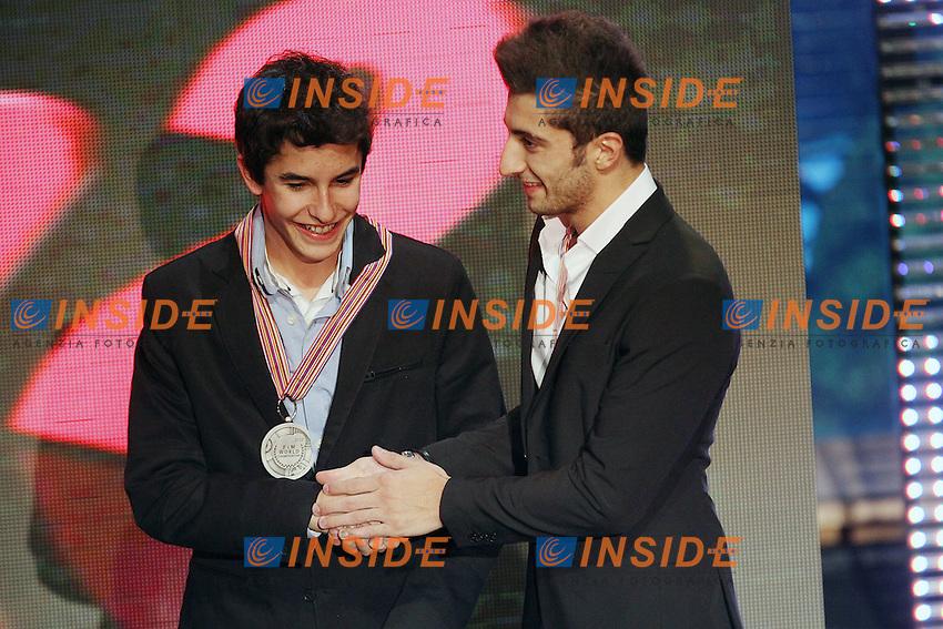 06-11-2011 Valencia (ESP).Motogp - Motogp awards 2011.Marc Marquez - Repsol CX team and Andrea Iannone - Speed Master team.Foto Insidefoto / Semedia