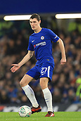 10th January 2018, Stamford Bridge, London, England; Carabao Cup football, semi final, 1st leg, Chelsea versus Arsenal; Andreas Christensen of Chelsea