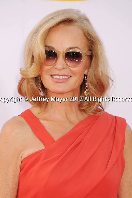 LOS ANGELES, CA - SEPTEMBER 23: Jessica Lange arrives at the 64th Primetime Emmy Awards at Nokia Theatre L.A. Live on September 23, 2012 in Los Angeles, California.