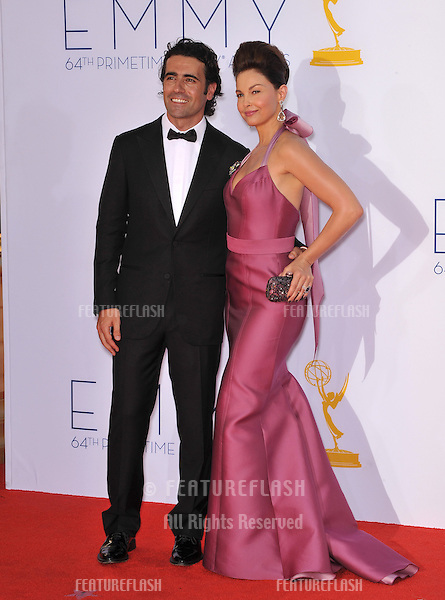 Ashley Judd & Dario Franchitti at the 64th Primetime Emmy Awards at the Nokia Theatre LA Live..September 23, 2012  Los Angeles, CA.Picture: Paul Smith / Featureflash