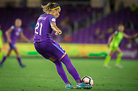 Orlando, FL - Thursday September 07, 2017: Monica Hickmann Alves during a regular season National Women's Soccer League (NWSL) match between the Orlando Pride and the Seattle Reign FC at Orlando City Stadium.