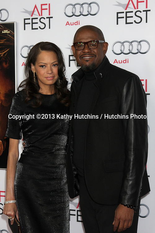 """LOS ANGELES - NOV 9:  Keisha Whitaker, Forest Whitaker at the AFI FEST 2013 Presented By Audi - """"Out Of The Furnace"""" Premiere at TCL Chinese Theater on November 9, 2013 in Los Angeles, CA"""